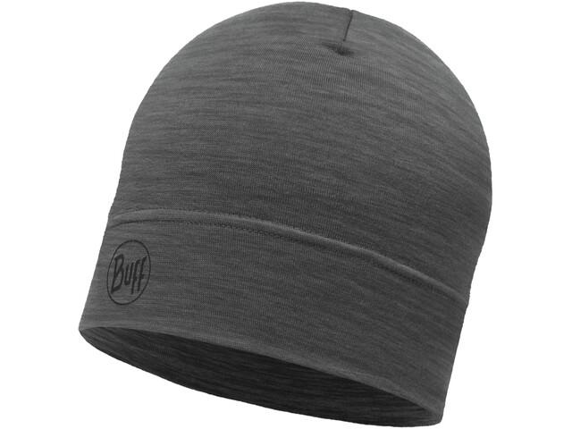 Buff Lightweight Merino Wool Päähine, solid grey